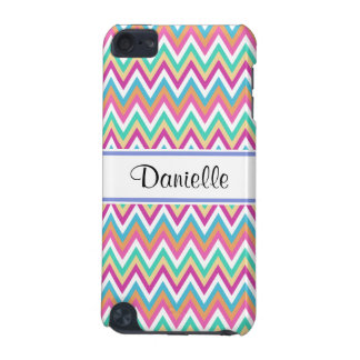 Custom Girly Pastels Chevron 5G iPod Touch Case iPod Touch (5th Generation) Cover