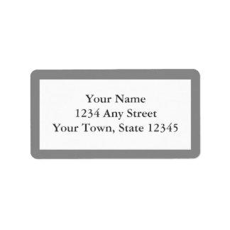 Custom Gray Pre-printed Envelope Address Labels Custom Address Labels