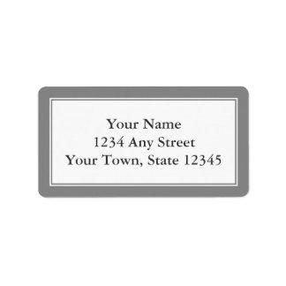 Custom Gray & White Envelope Address Labels Custom Address Label