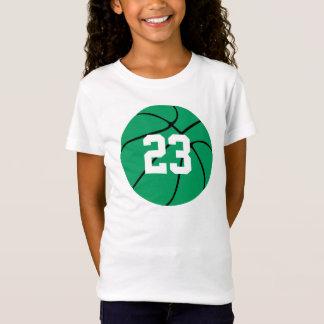 Custom Green Basketball T-Shirt
