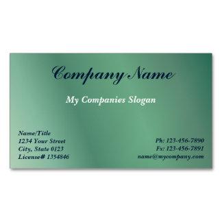 Custom Green Gradient Magnetic Business Card Magnetic Business Cards