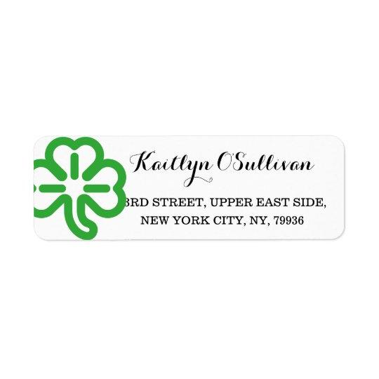 Custom Green Shamrock Clover Irish St Patricks Day