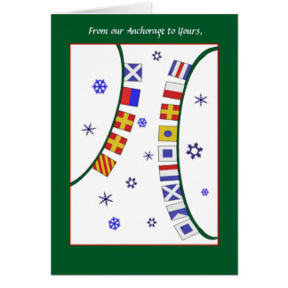 Custom GreetingNautical Signal Flag Christmas Card