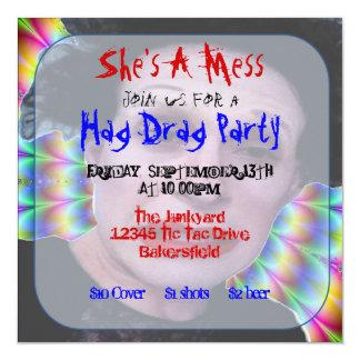 Custom Hag Drag Party Invitations