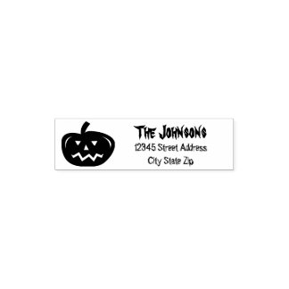Custom Halloween pumpkin party address ink stamp