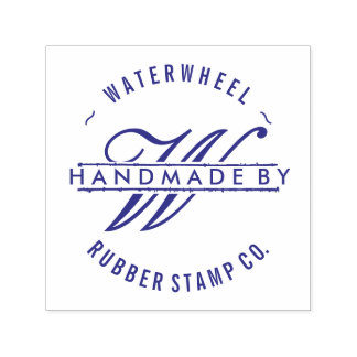 "Custom ""Handmade By"" with Monogram Self-inking Stamp"