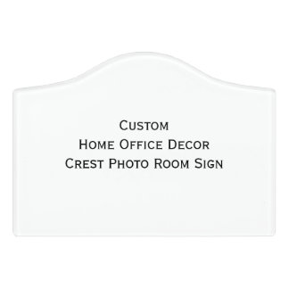 Custom Home Office Decor Crest Photo Room Sign Door Sign