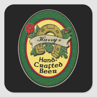 Custom Homemade Beer Labels Square Sticker