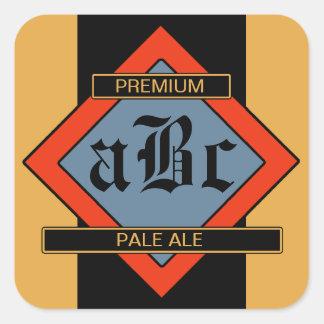 Custom Homemade Beer/Wine Labels Square Sticker