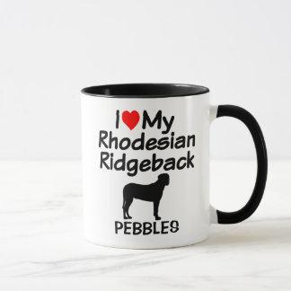 Custom I Love My Rhodesian Ridgeback Dog Mug