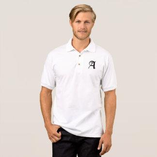 Custom Initial Monogram Classic Gothic Medieval Polo Shirt