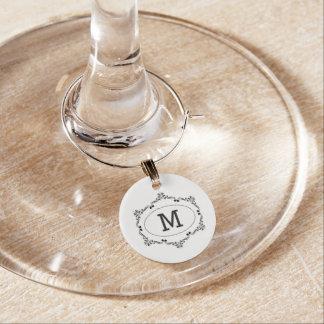 Custom Initial Wine Charm