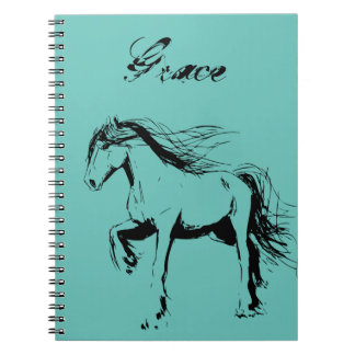 Custom Inked Clydesdale Notebook