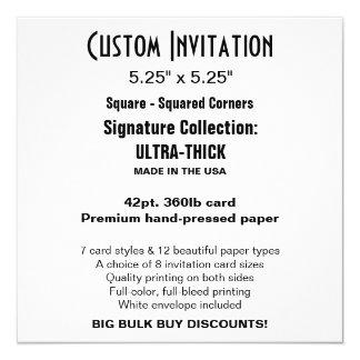 """Custom Invitation 5.25"""" x 5.25"""" ULTRA-THICK Square"""