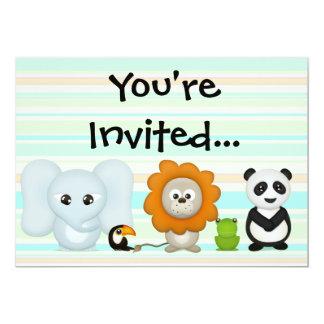 Custom Invitation, Cute Animals for Baby or Kids..
