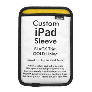Custom iPad Mini Sleeve - (Black & Gold)