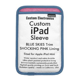 Custom iPad Mini Sleeve - Blue Skies & Pink