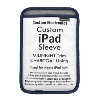 Custom iPad Mini Sleeve - Midnight & Charcoal