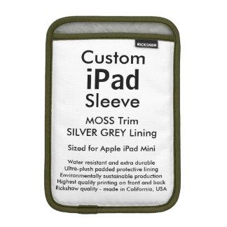 Custom iPad Mini Sleeve - (Moss & Silver Grey)