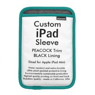Custom iPad Mini Sleeve - (Peacock & Black)