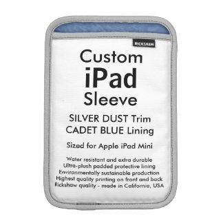 Custom iPad Mini Sleeve - (Silver Dust & Blue)