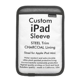 Custom iPad Mini Sleeve - (Steel & Charcoal)