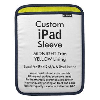 Custom iPad Sleeve - Vertical (Midnight & Yellow)