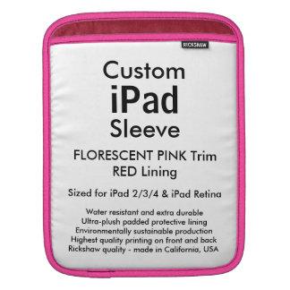 Custom iPad Sleeve - Vertical (Pink & Red)