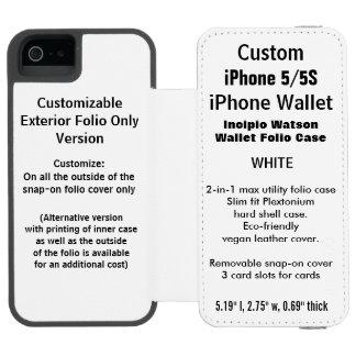 Custom iPhone 5/5S Watson™ Wallet Folio Case WHITE Incipio Watson™ iPhone 5 Wallet Case