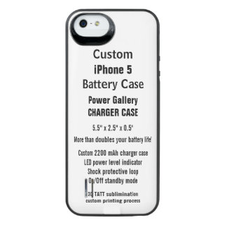Custom iPhone 5 Power Charger Battery Case