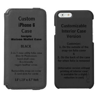 Custom iPhone 6 Watson™ Wallet Folio Case BLACK Incipio Watson™ iPhone 6 Wallet Case