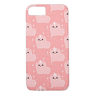 Custom iPhone 7 Pink Fluffy Cloud Unicorns iPhone 7 Case