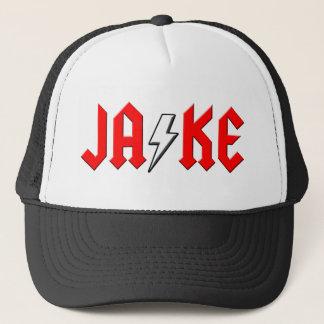 custom JAKE rock and roll shirt Trucker Hat