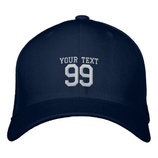 Custom jersey number name sports hat | Colored cap
