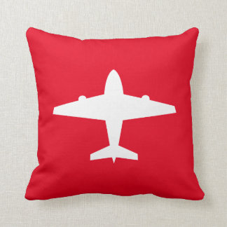 Custom Kids' Airplane Throw Pillow