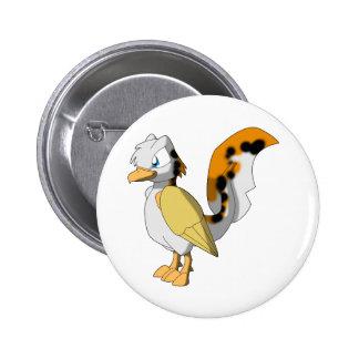 Custom Koi Reptilian Bird 2 Pinback Button