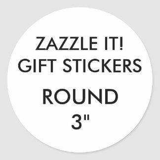 "Custom LARGE 3"" ROUND Gift Stickers Template"