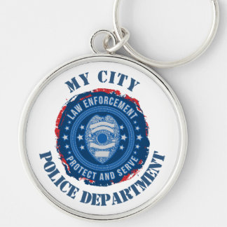 Custom Law Enforcement Badge Key Ring