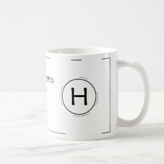 Custom letter H coffee mug