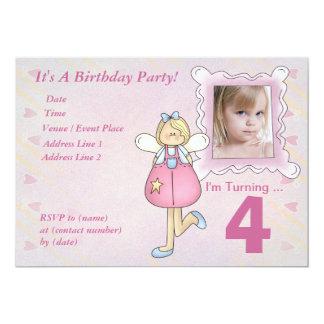 Custom Little Angel Birthday Party Invitation