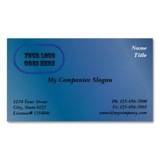 Custom Logo Blue Gradient Magnetic Business Card Magnetic Business Cards