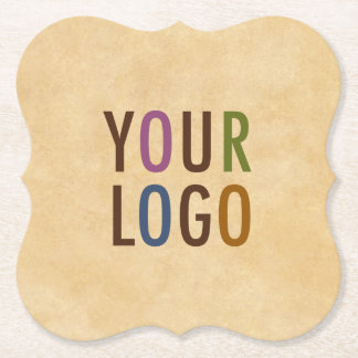 Custom Logo Branded Antique Vintage Style Bracket Paper Coaster