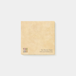 Custom Logo Branded Antique Vintage Style Square Post-it® Notes
