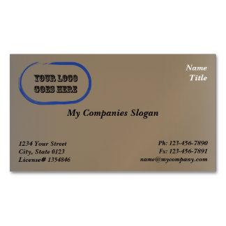 Custom Logo Brown Stone Magnetic Business Card Magnetic Business Cards