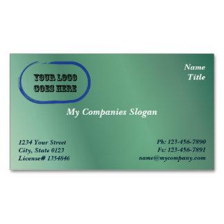 Custom Logo Green Gradient Magnetic Business Card Magnetic Business Cards