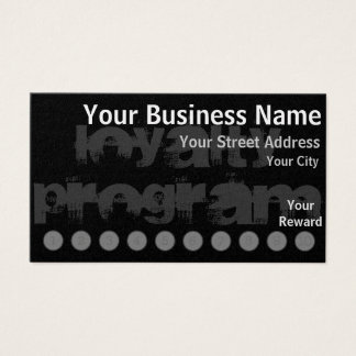 Custom Loyalty Punch Card
