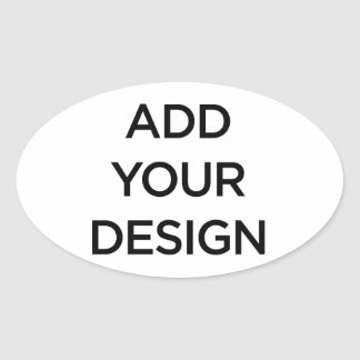 Custom Made Make Your Own Oval Stickers