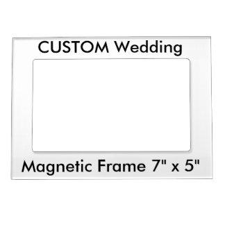 """Custom Magnetic Fridge Photo Frame 7"""" x 5"""" Photo Frame Magnet"""