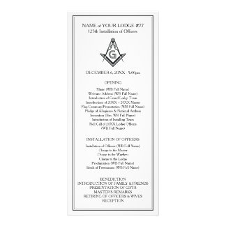 Custom Masonic Rack Cards | Officer Installation