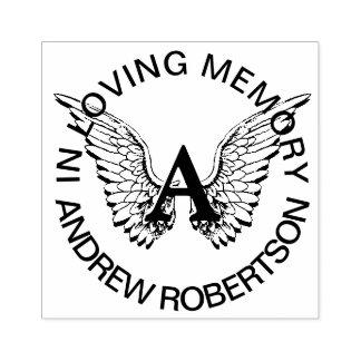 Custom Memorial Monogram Rubber Stamp